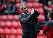 24th March 2018, The Valley, London, England;  English Football League One, Charlton Athletic versus Plymouth Argyle; Charlton caretaker manager Lee Bowyer applauding the Charlton Athletic fans