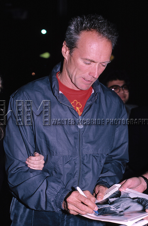 Clint Eastwood photographed at Nicky Blair's Restaurant on September 20, 1986 in Los Angeles, California.