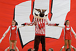 MADISON, WI - NOVEMBER 12: Mascot Bucky Badger and the cheerleaders of the Wisconsin Badgers perform during the game against the Mercer Bears at the Kohl Center on November 12, 2006 in Madison, Wisconsin. The Badgers beat the Bears 72-48. (Photo by David Stluka)