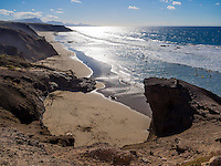 Spain, ESP, Canary Islands, Fuerteventura, La Pared, 2012Oct14: The rocky west coast at La Pared, Fuerteventura.