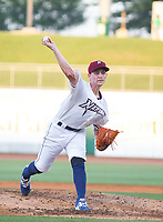 Tulsa Drillers vs NWA Naturals -  Starting pitcher Josh Staumont of the Naturals pitches against the Tulsa Drillers at Arvest Ballpark, Springdale, AR, Thursday, July 13, 2017,  © 2017 David Beach