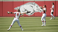 NWA Democrat-Gazette/ANDY SHUPE<br /> Arkansas DePaul Friday, May 18, 2018, during the inning at Bogle Park during the NCAA Fayetteville Softball Regional on the university campus in Fayetteville. Visit nwadg.com/photos to see more photographs from the game.
