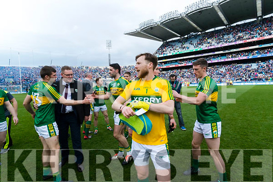 Brendan Kealy Kerry players celebrate after defeating Dublin at the National League Final in Croke Park on Sunday.