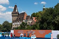 KALANCHA Mikhaela MALTSEV Aleksandr RUS Silver Medal <br /> FLAMINI Manila MINISINI Giorgio ITA Gold Medal <br /> MAY Bill SPENDLOVE Kanako Kitao Usa Bronze Medal <br /> Duet Technical Final<br /> Synchronised swimming , Synchro<br /> 17/07/2017 <br /> XVII FINA World Championships Aquatics<br /> City Park - Varosliget Lake<br /> Budapest Hungary <br /> Photo Andrea Staccioli/Deepbluemedia/Insidefoto