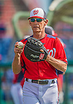 9 March 2013: Washington Nationals bullpen coach Jim Lett tosses some ball prior to a Spring Training game against the Miami Marlins at Space Coast Stadium in Viera, Florida. The Nationals edged out the Marlins 8-7 in Grapefruit League play. Mandatory Credit: Ed Wolfstein Photo *** RAW (NEF) Image File Available ***