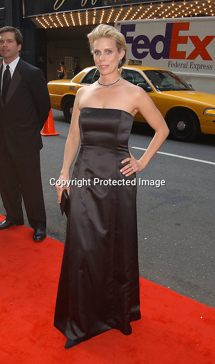 Cheryl Hines in Nicole Miller dress and Stuart Weitzman shoes                            ..at the National 2003 Gracie Allen Awards event on        June 26, 2003 at the New York Hilton...Photo by Robin Platzer, Twin Images