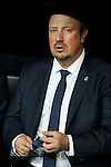 Real Madrid´s coach Rafa Benitez during Champions League soccer match between Real Madrid  and Paris Saint Germain at Santiago Bernabeu stadium in Madrid, Spain. November 03, 2015. (ALTERPHOTOS/Victor Blanco)