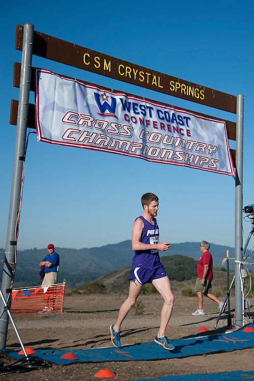 October 29, 2011; Belmont, CA, USA; Portland Pilots runner Trevor Dunbar (111) competes during the WCC Cross Country Championships at Crystal Springs.