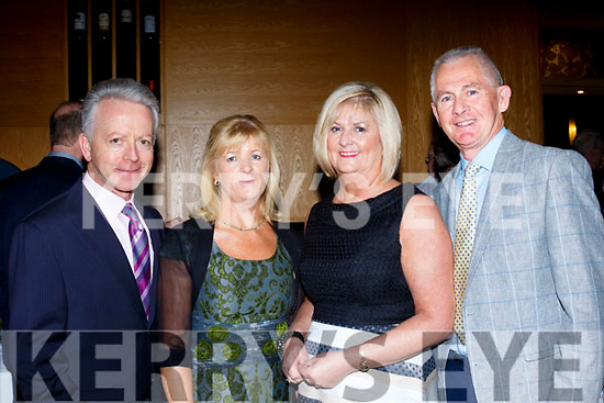 L-R Pat Maunsell with Eileen, Anne&Michael O'Callaghan at the TGC captains dinner last Saturday night in the Ballyroe heights hotel, Tralee.