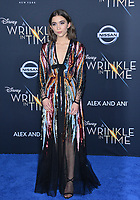 Rowan Blanchard at the premiere for &quot;A Wrinkle in Time&quot; at the El Capitan Theatre, Los Angeles, USA 26 Feb. 2018<br /> Picture: Paul Smith/Featureflash/SilverHub 0208 004 5359 sales@silverhubmedia.com