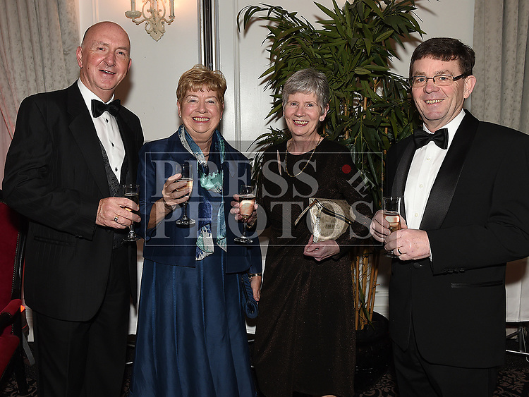 Pat and Anne Gough and Martin and Linda Cassidy at the Drogheda Independent Sports Star of the Year Awards in The Westcourt Hotel. Photo:Colin Bell/pressphotos.ie