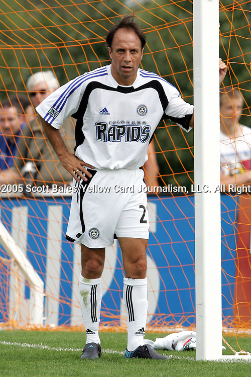 29 August 2005: Newly elected Hall of Famer and Colorado head coach Fernando Clavijo. The Colorado Rapids defeated DC United 6-2 at At-A-Glance Field in Oneonta, New York in the 2005 Hall of Fame Game..