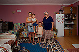 Junkovac village - Municipality of Lazarevac. Vera Stojanovic (grandmother): ?We fled in 1999. I was in the car with my relative, one of my sons and his family. It was raining and I was cold, we were without food and scared... I remember that I lost my shoes...We live in two rooms, I sleep in the living room, and Dejan and Dragana share their bedroom with children. I dream to have my own bedroom so I can take a rest whenever I need it.?