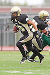 Torrance, CA 10/05/11 - Issac Kuo (Peninsula #28) in action during the Peninsula vs South Torrance Junior Varsity football game.