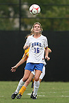 20 September 2009: Duke's Elisabeth Redmond. The Duke University Blue Devils played the Louisiana State University Tigers to a 2-2 tie after overtime at Koskinen Stadium in Durham, North Carolina in an NCAA Division I Women's college soccer game.