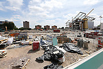 Demolition takes place at The Boleyn Ground former home of West Ham United in London. Picture date 23rd June 2017. Picture credit should read: David Klein/Sportimage