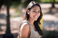 Alexis Paz '16 for student profile. (Photo by Marc Campos, Occidental College Photographer)