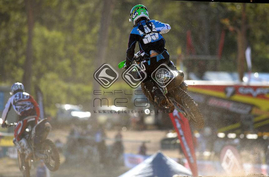 Alex Morris / Kawasaki<br /> MX Nationals / Round 6 / MX2<br /> Australian Motocross Championships<br /> Raymond Terrace NSW<br /> Sunday 5 July 2015<br /> &copy; Sport the library / Jeff Crow