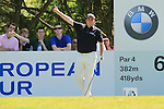 Shane Lowry signals after sending his tee shot to the right off from the par 4 6th tee during Round 3 of the BMW PGA Championship at  Wentworth, Surrey, England, 22nd May 2010...Photo Golffile/Eoin Clarke.(Photo credit should read Eoin Clarke www.golffile.ie)....This Picture has been sent you under the condtions enclosed by:.Newsfile Ltd..The Studio,.Millmount Abbey,.Drogheda,.Co Meath..Ireland..Tel: +353(0)41-9871240.Fax: +353(0)41-9871260.GSM: +353(0)86-2500958.email: pictures@newsfile.ie.www.newsfile.ie.