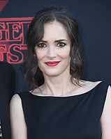 "28 June 2019 - Santa Monica, California - Winona Ryder. ""Stranger Things 3"" Los Angeles Premiere held at Santa Monica High School. Photo Credit: Birdie Thompson/AdMedia"