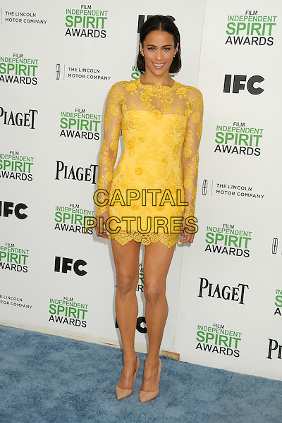 1 March 2014 - Santa Monica, California - Paula Patton. 2014 Film Independent Spirit Awards - Arrivals held at Santa Monica Beach. <br /> CAP/ADM/BP<br /> &copy;Byron Purvis/AdMedia/Capital Pictures
