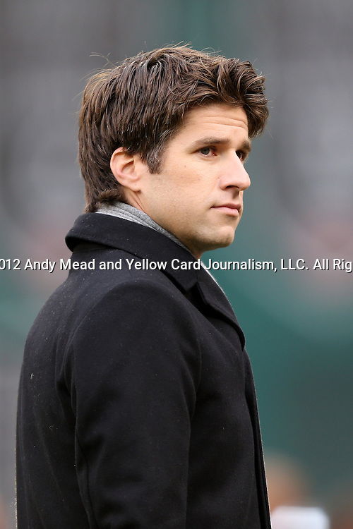 18 November 2012: NBC sportscaster Kyle Martino. DC United played the Houston Dynamo at RFK Stadium in Washington, DC in the second leg of their 2012 MLS Cup Playoffs Eastern Conference Final series. The game ended in a 1-1 tie, Houston won the series 4-2 on aggregate goals.