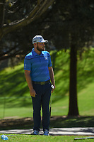 Tyrell Hatton (ENG) reacts to barely missing his putt on 1 during round 1 of the World Golf Championships, Mexico, Club De Golf Chapultepec, Mexico City, Mexico. 2/21/2019.<br /> Picture: Golffile | Ken Murray<br /> <br /> <br /> All photo usage must carry mandatory copyright credit (© Golffile | Ken Murray)
