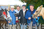 FAIR: Paddy McCarthy, Firies winner of the Best Horse of the Annascual Fair on Sunday l-r: Paddy McCarthy, Firies, Dan Sheehy, Annascual and Eddie Hayes and Tom McCarthy, Tralee.