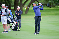 Tony Finau (USA) watches his second shot on 2 during round 3 of the Valero Texas Open, AT&amp;T Oaks Course, TPC San Antonio, San Antonio, Texas, USA. 4/22/2017.<br /> Picture: Golffile | Ken Murray<br /> <br /> <br /> All photo usage must carry mandatory copyright credit (&copy; Golffile | Ken Murray)