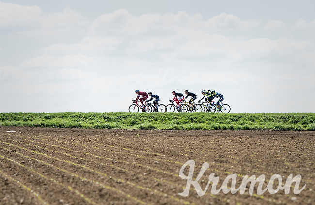 early breakaway group<br /> <br /> 81st La Fl&egrave;che Wallonne (1.UWT)<br /> One Day Race: Binche &rsaquo; Huy (200.5km)