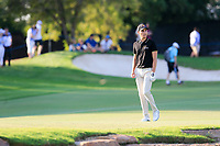 Matthias Schwab (AUT) on the 18th during the 2nd round of the DP World Tour Championship, Jumeirah Golf Estates, Dubai, United Arab Emirates. 22/11/2019<br /> Picture: Golffile | Fran Caffrey<br /> <br /> <br /> All photo usage must carry mandatory copyright credit (© Golffile | Fran Caffrey)