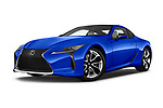 Stock pictures of low aggressive front three quarter view of a 2018 Lexus LC Blue Edition 2 Door Coupe