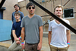 The Grizzly Bear (l-r) Daniel Rossen, 26, Chris Bear, 27, Edward Droste, 30, and Chris Taylor, 28, of Brooklyn just outside the Pitchfork Music Festival at the corner of Randolph and Ogden in Chicago on July 19, 2009.
