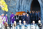Family members carry Niall McGillicuddy coffin out of St Marys Cathedral on Tuesday