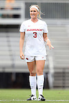 07 September 2014: Arkansas' Hailey Pescatore. The University of North Carolina Tar Heels played the University of Arkansas Razorbacks at Koskinen Stadium in Durham, North Carolina in a 2014 NCAA Division I Women's Soccer match. UNC won the game 2-1.