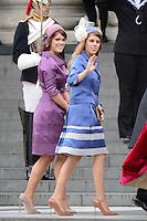 LONDRES, INGLATERRA, 05 DE JUNHO 2012 - JUBILEU DE DIAMANTE DA RAINHA ELIZABETH - As princesas Beatrice e Eugenie chegam a Catedral de Sao Paulo durante o Jubileu de Diamante da Rainha Elizabeth em Londres capital do Reino Unido, nesta terça-feira, 05. (FOTO: BILLY CHAPPEL / ALFAQUI / BRAZIL PHOTO PRESS)