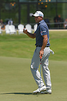 Sam Saunders (USA) after sinking his putt on 18 during round 1 of the AT&amp;T Byron Nelson, Trinity Forest Golf Club, at Dallas, Texas, USA. 5/17/2018.<br /> Picture: Golffile | Ken Murray<br /> <br /> <br /> All photo usage must carry mandatory copyright credit (&copy; Golffile | Ken Murray)
