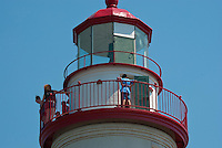 Visitors get a view from Marblehead Lighthouse