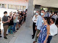 "SEVILLA, SPAIN - JUNE 29: Queen Letizia of Spain and King Felipe of Spain tour the ""Tres Mil Viviendas"" neighborhood on June 29, 2020 in Sevillla, Spain. The kings make a tour of various autonomous communities supporting economic, social and cultural activity after the coronavirus outbreak. Credit: Jorge Rey/MediaPunch"