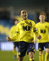 Blackburn Rovers' Elliott Bennett celebrates at the end of the game<br /> <br /> Photographer Rob Newell/CameraSport<br /> <br /> The EFL Sky Bet Championship - Millwall v Blackburn Rovers - Saturday 12th January 2019 - The Den - London<br /> <br /> World Copyright &copy; 2019 CameraSport. All rights reserved. 43 Linden Ave. Countesthorpe. Leicester. England. LE8 5PG - Tel: +44 (0) 116 277 4147 - admin@camerasport.com - www.camerasport.com