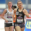 Margaret Atwood of Sachem East, right, competes in the girls 1-mile race walk event during the New Balance Indoor Nationals at The Armory in New York, NY on Saturday, March 10, 2018. She finished in second place with a time of 7:16.25.