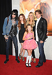 """HOLLYWOOD, CA. - March 25: Singer Billy Ray Cyrus (R), Brandi Cyrus, Tish Cyrus, Noah Lindsey Cyrus, and Trace Cyrus (L) arrive to """"The Last Song"""" Los Angeles Premiere at ArcLight Hollywood on March 25, 2010 in Hollywood, California."""