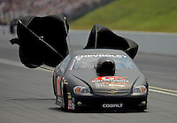 Jun. 17, 2012; Bristol, TN, USA: NHRA pro stock driver Erica Enders during the Thunder Valley Nationals at Bristol Dragway. Mandatory Credit: Mark J. Rebilas-