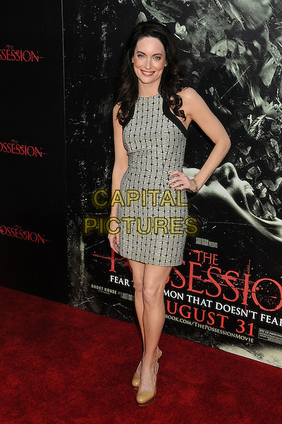 "Alex Lombard.""The Possession"" Los Angeles Premiere held at Arclight Cinemas, Hollywood, California, USA..August 28th, 2012.full length dress hand on hip black white sleeveless pattern .CAP/ADM/BP.©Byron Purvis/AdMedia/Capital Pictures."