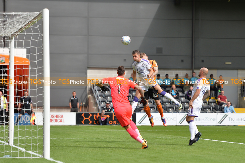 Dan Potts of Luton Town clears a cross during Barnet vs Luton Town, Sky Bet EFL League 2 Football at the Hive Stadium on 12th August 2017