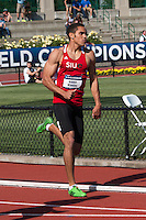 SIUE junior Braxton Klavins comes off the final turn in the Men's 400-meter preliminaries on his way to a 16th place overall finish in 46.40 seconds at the 2014 NCAA Division I Outdoor Track and Field Championships. Klavins finish earns him second-team All-American honors, becoming the second Cougar to earn the status in SIUE history, just it's second-year of NCAA Division I competition.