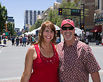 Christy and Stan during Art Fest on Saturday June 30, 2018 in downtown Reno.