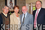 AIRPORT: At the AGM of Kerry Airport at the Earl of Desmond Hotel on Monday last were, l-r: Michael Dowling (Listowel), Kathleen O'Regan-Shepherd (Killarney), Brian Cunningham (Tralee) and Cllr. Denis Stack (Listowel).   Copyright Kerry's Eye 2008