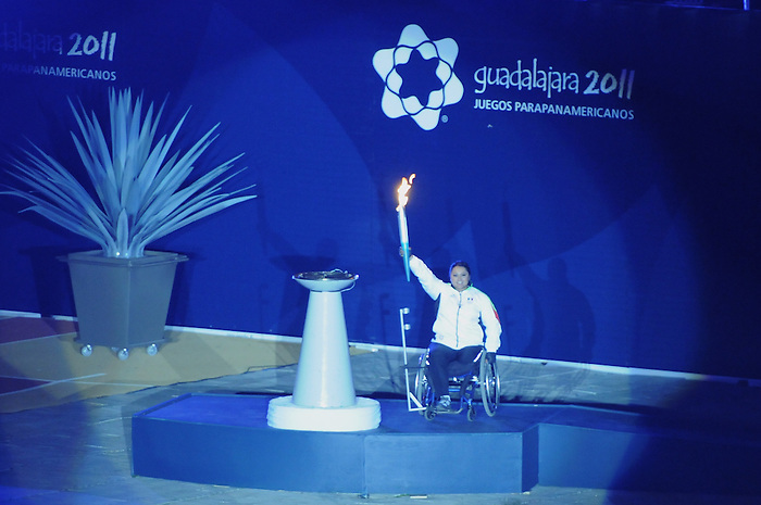 November 12 2011 - Guadalajara, Mexico:   Opening Ceremonies in the Telmex Athletic Centre at the 2011 Parapan American Games.  Photos: Matthew Murnaghan/Canadian Paralympic Committee