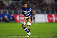 Levi Douglas of Bath Rugby looks on. Anglo-Welsh Cup match, between Bath Rugby and Leicester Tigers on November 4, 2016 at the Recreation Ground in Bath, England. Photo by: Patrick Khachfe / Onside Images
